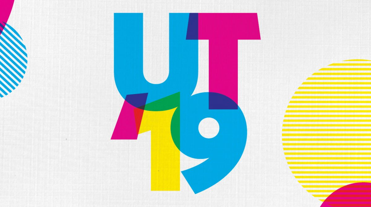 "A colorful image that says, ""UT '19"""