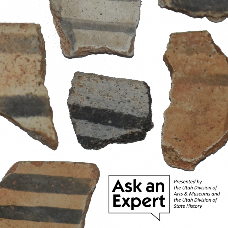 Ask and expert: Presented by the Utah Division of Arts & Museums and the Utah Division of State History, Picture of old artifacts